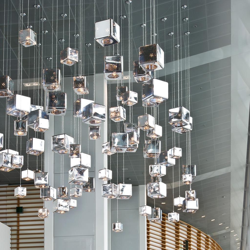 viso lighting. 1Silver Viso H20 Pendant Light At The AUDI Forum From ELDC1|15 Lighting