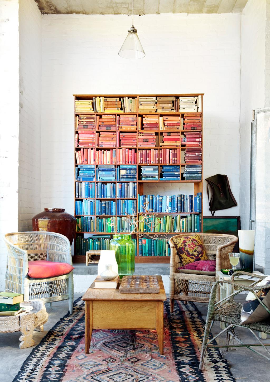 Co colour coordinated bookshelf - The Artist S Shelfie The Ultimate Colour Coded Bookshelf In Johannesdal Photo Greg Cox Bureaux Production Retha Erichsen1 21