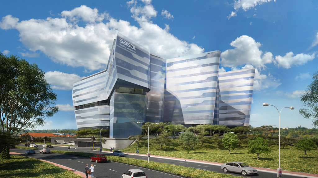 New sasol building in johannesburg visi for Architectural design companies in johannesburg