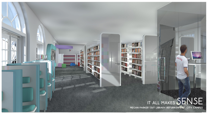... Megan Parker - B.Tech Sensory Design. Library Area