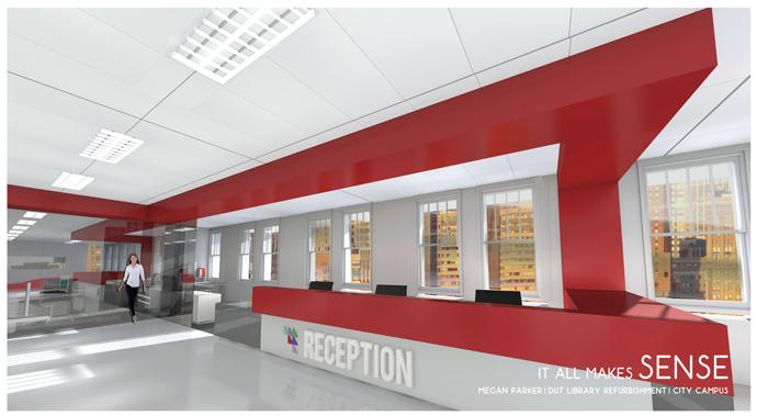 Megan Parker - B.Tech Sensory Design. Library Reception