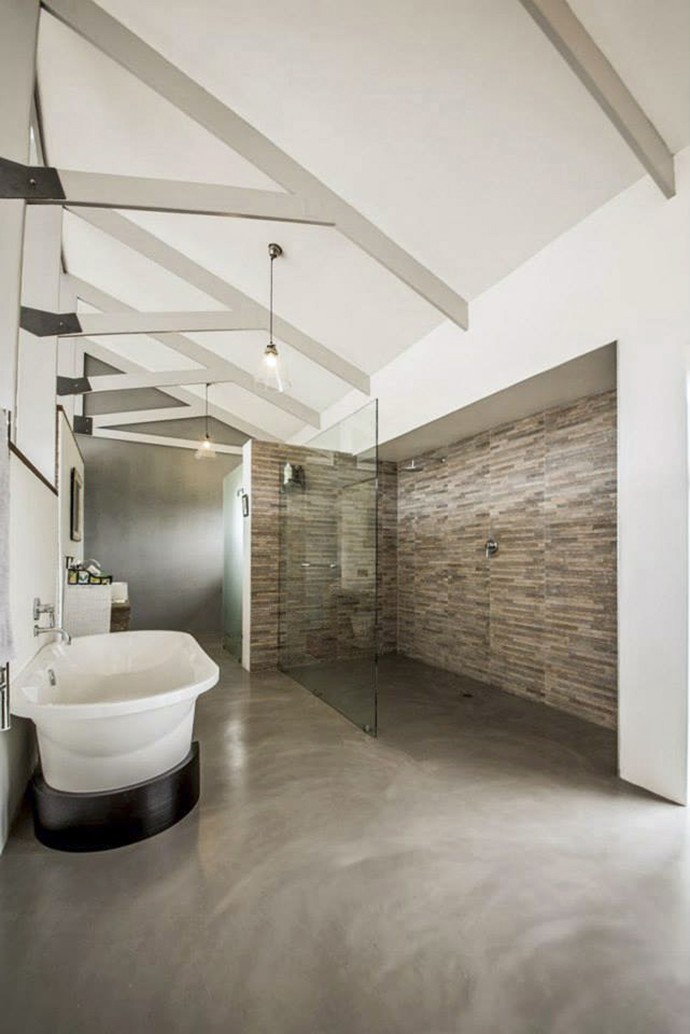 Bathroom trend cemcrete cement finishes visi Best paint finish for bathroom