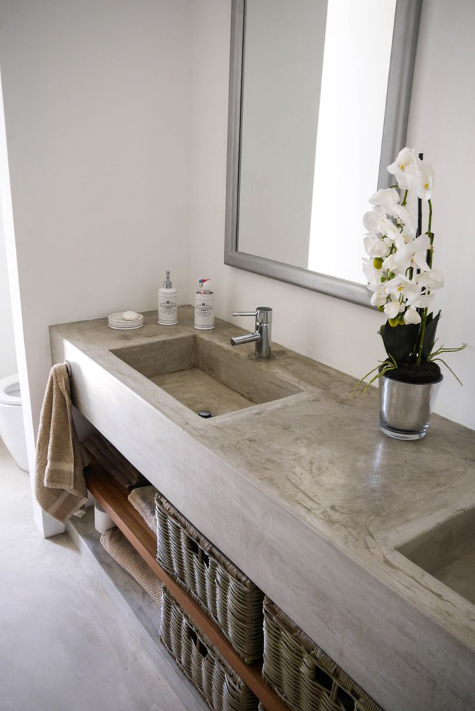 Used Bathroom Vanity Cabinets White Mdf Bathroom Cabinet: Bathroom Trend: Cemcrete Cement Finishes
