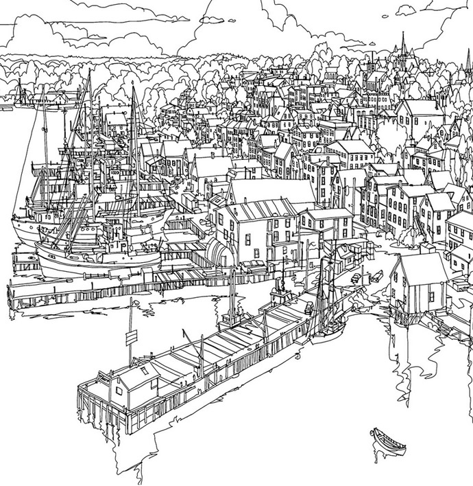 Fantastic Cities An Amazing Architectural Colouring Book