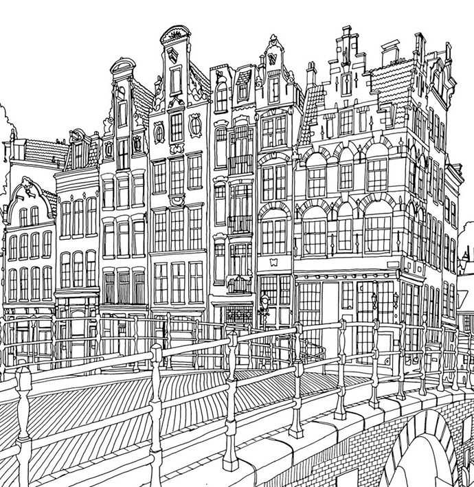 Fantastic Cities An Amazing Architectural Colouring Book Visi