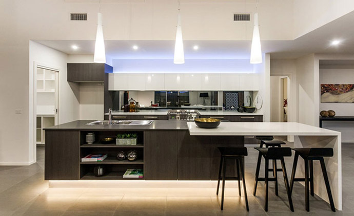 9 kitchen design trends from caesarstone visi for Kitchen design 9