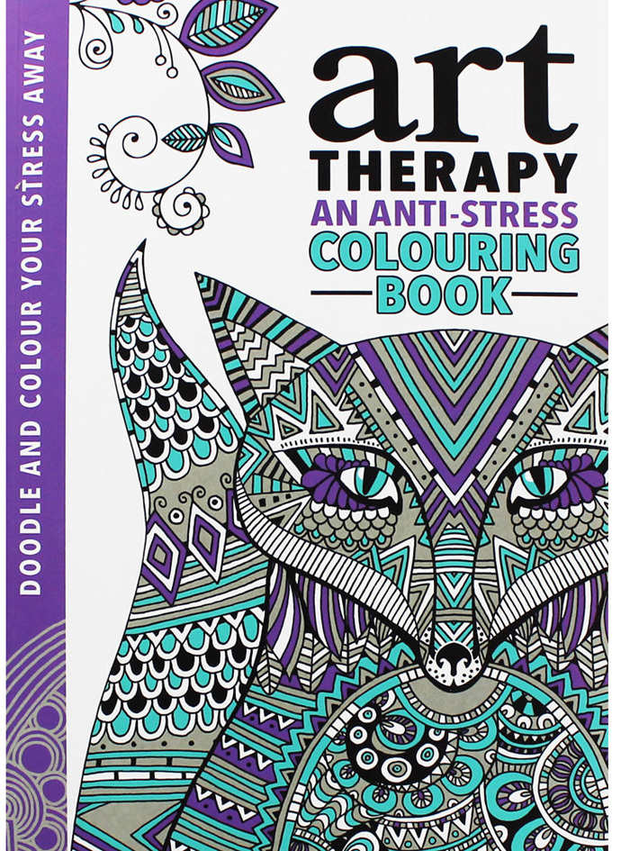 Anti Stress Colouring Book Art Therapy