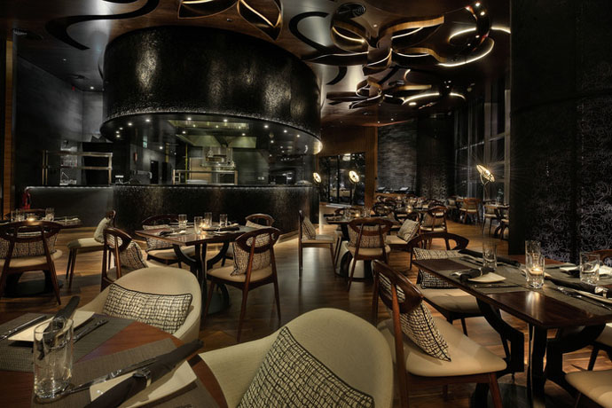 Design 23 of the most stylish restaurants in the world visi for Kitchen designs east london south africa