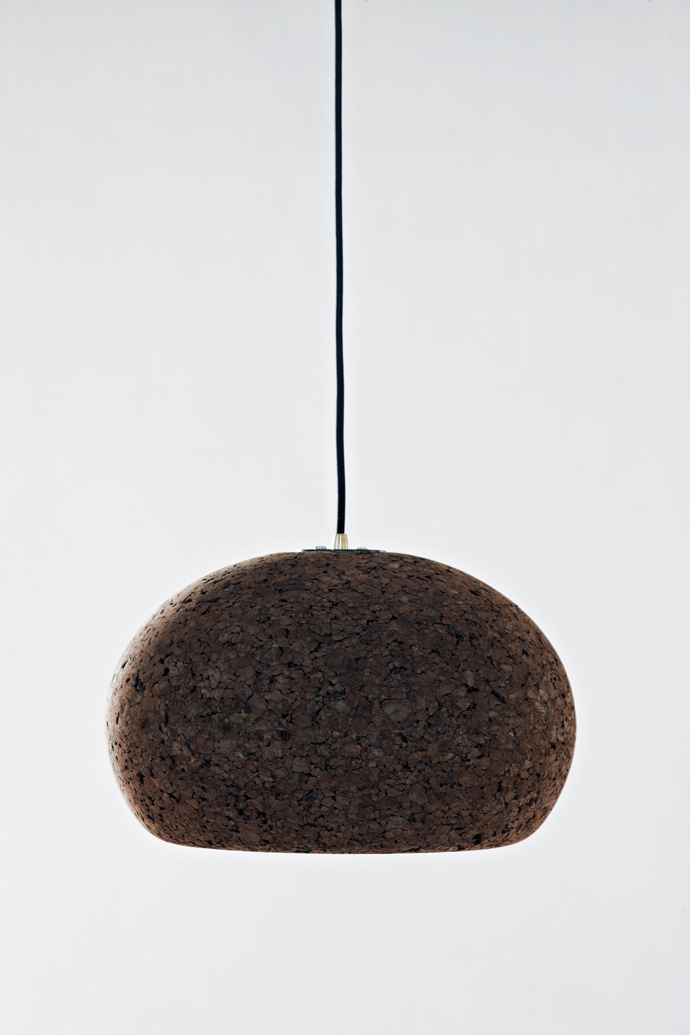 Cork pendant light by Wiid Design.