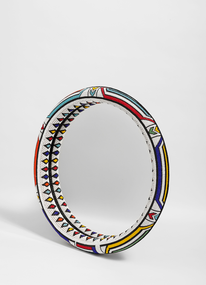 Beaded mirror by Sithabe African Craft.