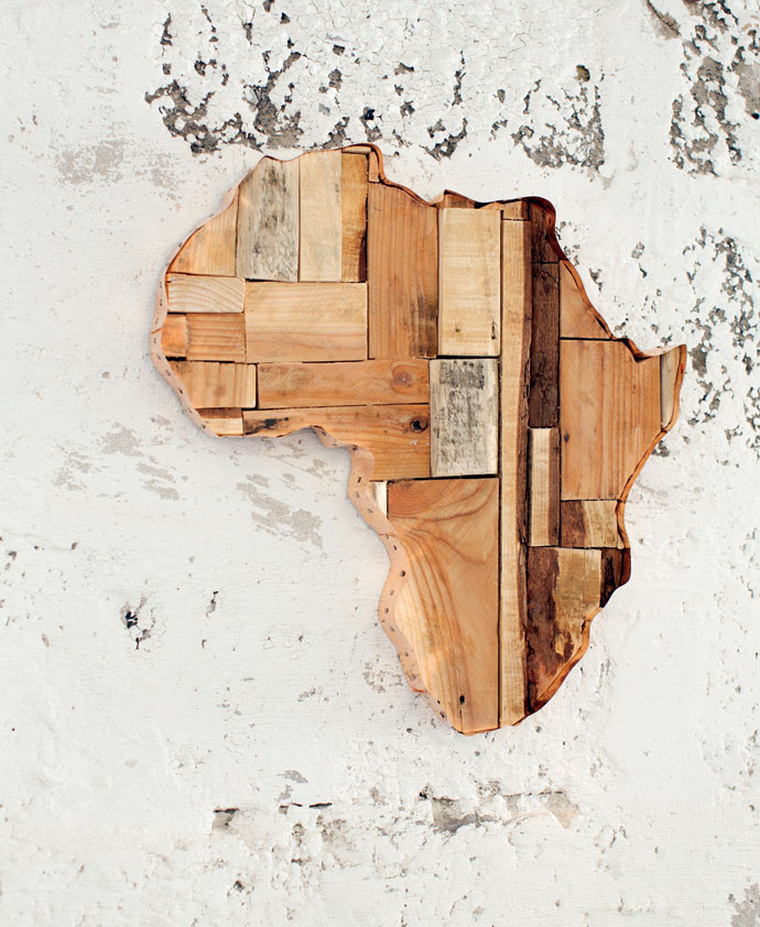 DIY Idea African Wall Art1|6 ...  sc 1 st  Visi & DIY Idea: African Wall Art - Visi
