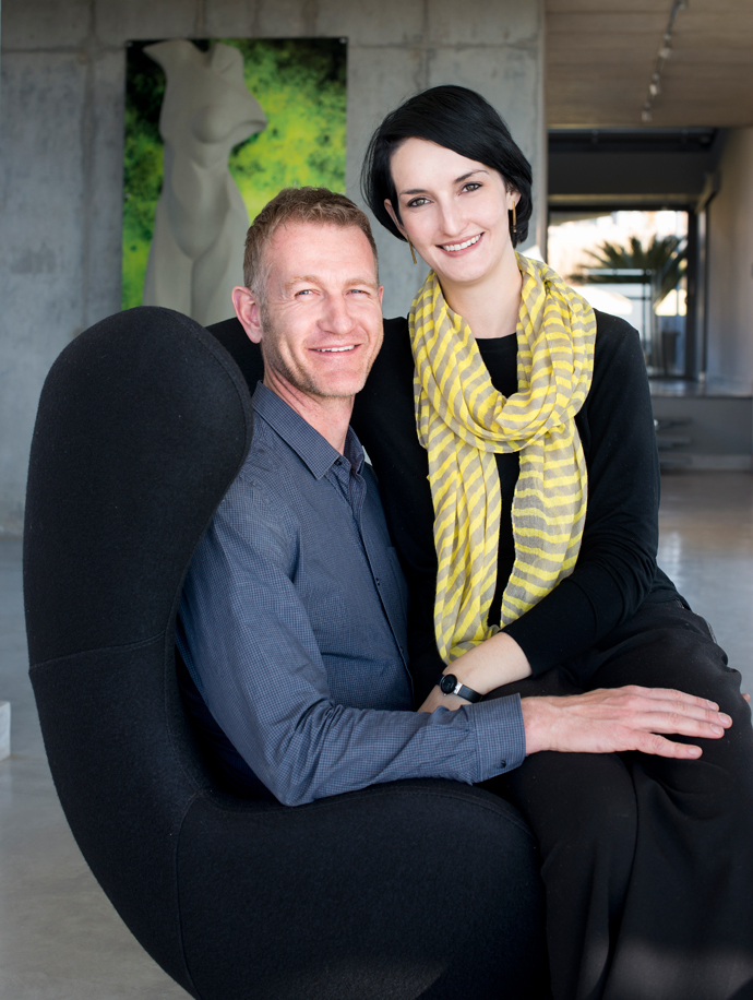 Husband and wife design team Thomas and Sureen Gouws of the award-winning architectural practice Thomas Gouws Architects + Interiors.