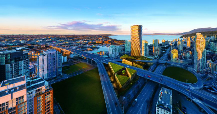 Overall winner + Residential (sponsored by Grohe): Vancouver House, Canada (BIG - Bjarke Ingels Group)
