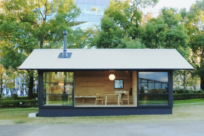 Muji prefab huts visi - The cork hut a flexible housing alternative ...