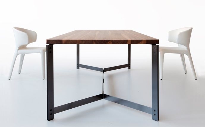 Boundless table by rocket design visi - Table bois metal ...