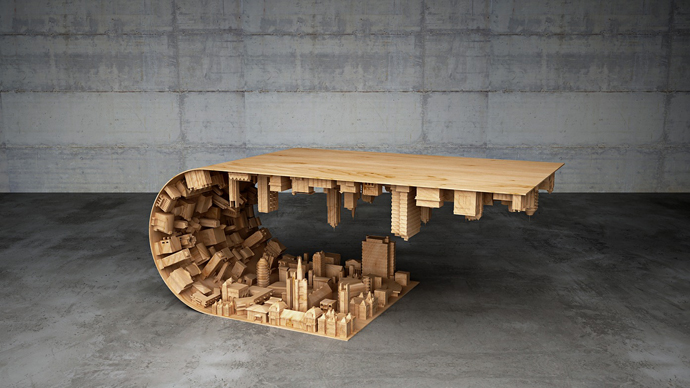 Stelios Mousarris' Wave City Coffee Table