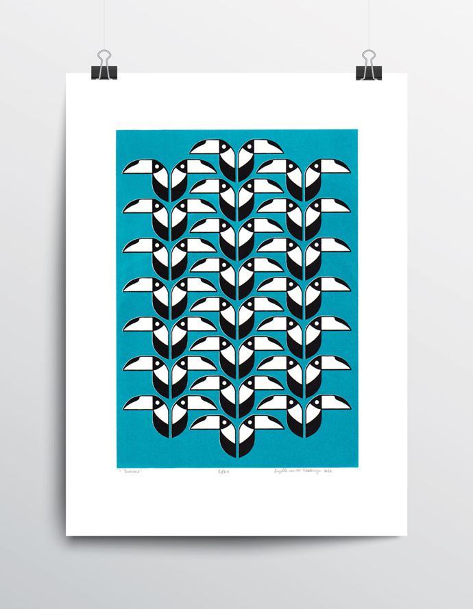 Toucans-Turquoise-unframed_9e7d130f-5e08-41d0-a5bc-7084eb7b4dda