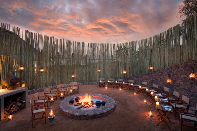 The Boma is a special treat for guests.  A five-star dinner is served under magnificent skies, accompanied by a well-rehearsed musical entertainment programme performed by the Mhondoro staff.