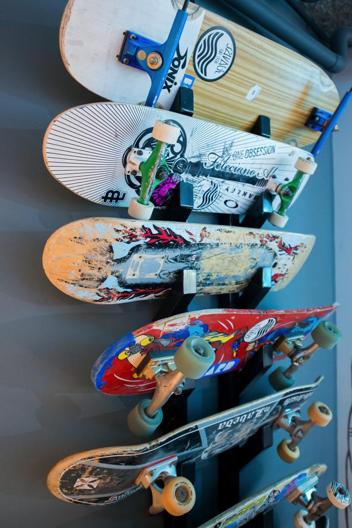 Robbie's love of skateboarding helped to inform the design of the space.