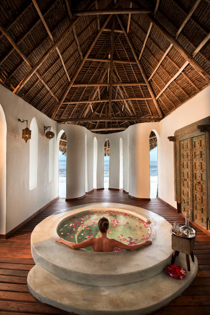 Who wouldn't want to have a soak in this hot tub in the spa on the beach? You only live… once.
