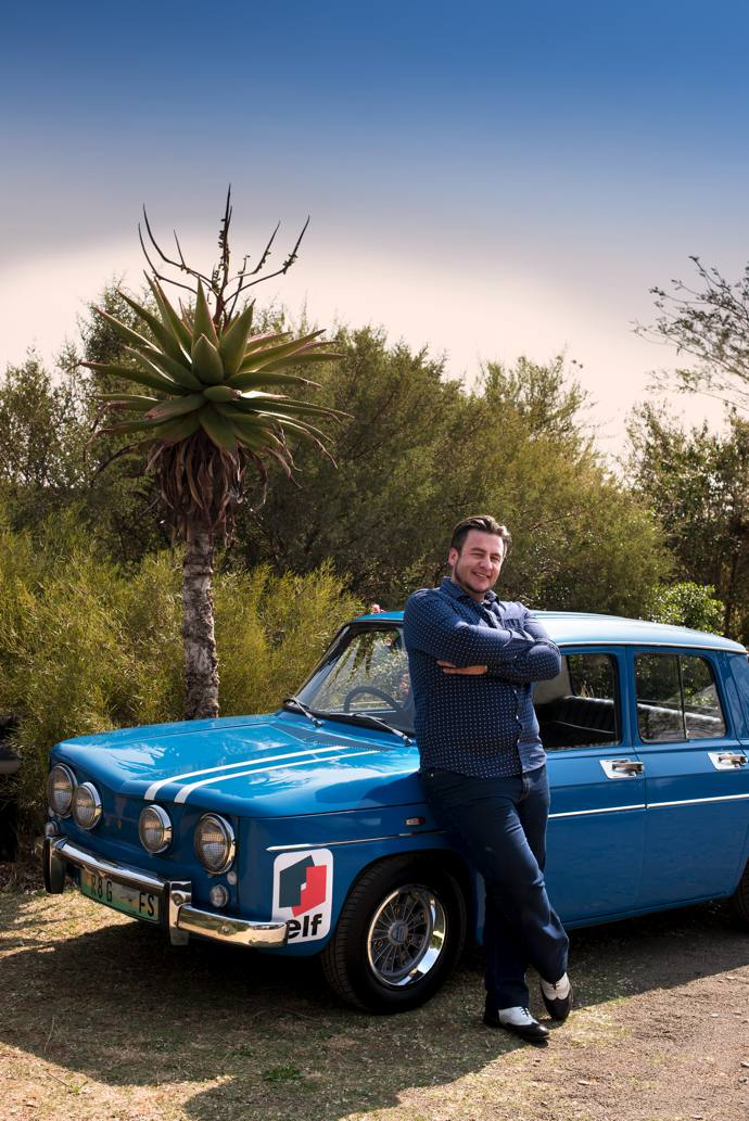 Architect Pieter Venter with his 1968 Renault R8 Gordini.