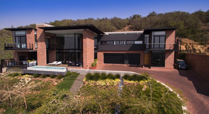 The Roodt house overlooks the city of Bloemfontein from the top of Naval Hill.