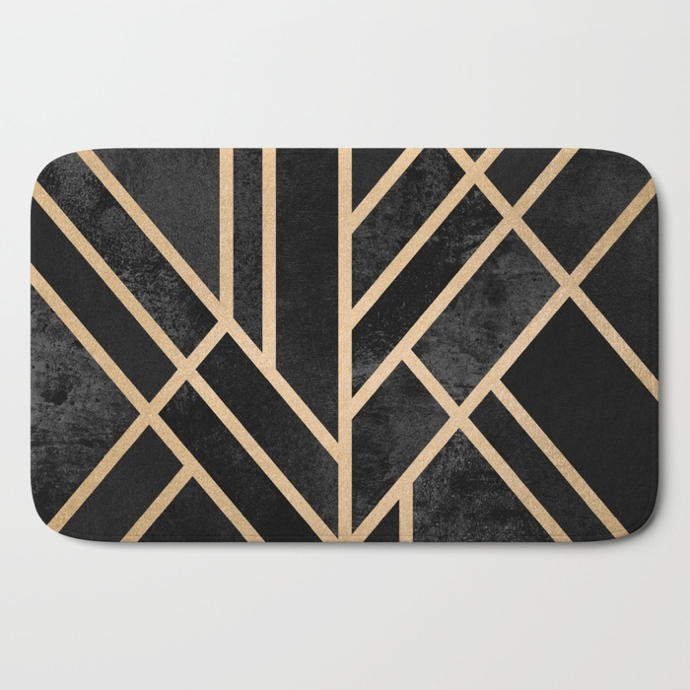 art-deco-black-bath-mats