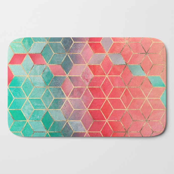 rose-and-turquoise-cubes-bath-mats