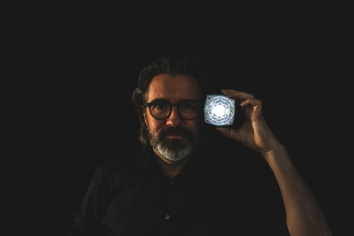 Olafur Eliasson with Little Sun Diamond
