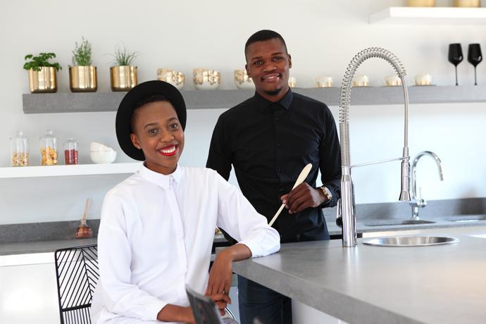 Team VISI Lesego Masekela and Mpho Mphaga