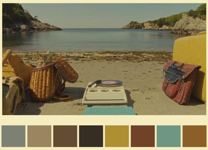 In This Clip Andrés Peña Has Created A Virtual Colour Palette Inspired By Scenes Some Of The Director S Most Iconic Films Namely Grand Budapest