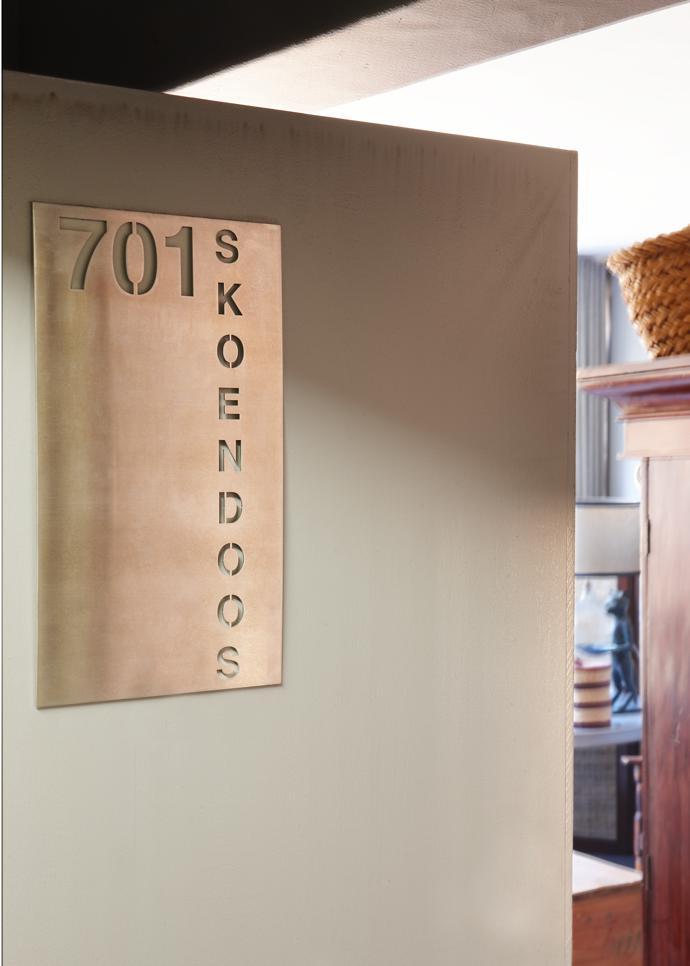 """""""Skoendoos"""" (shoebox) proclaims the door."""