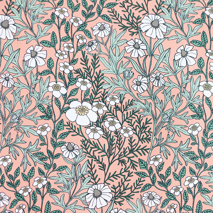 Abigail Borgs Feverfew Wallpaper And Fabric Collection1