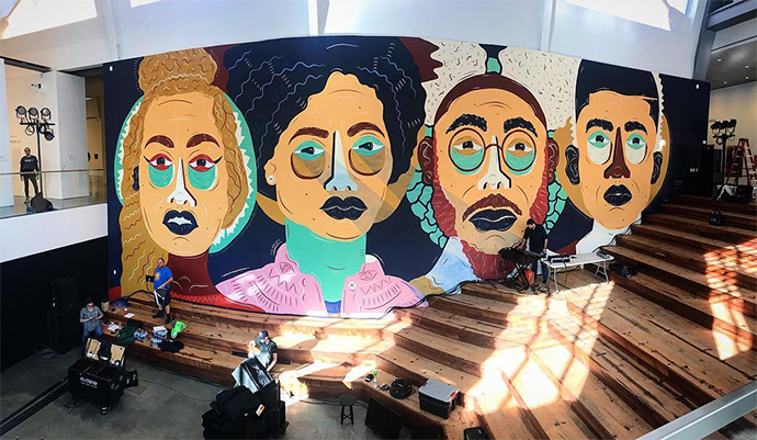 Berkeley Museum of Art and Pacific Film Archive (BAMPFA) Mural in California