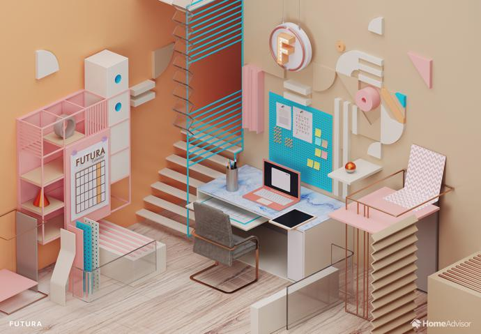 7 Home Office Designs Inspired by Fonts Visi