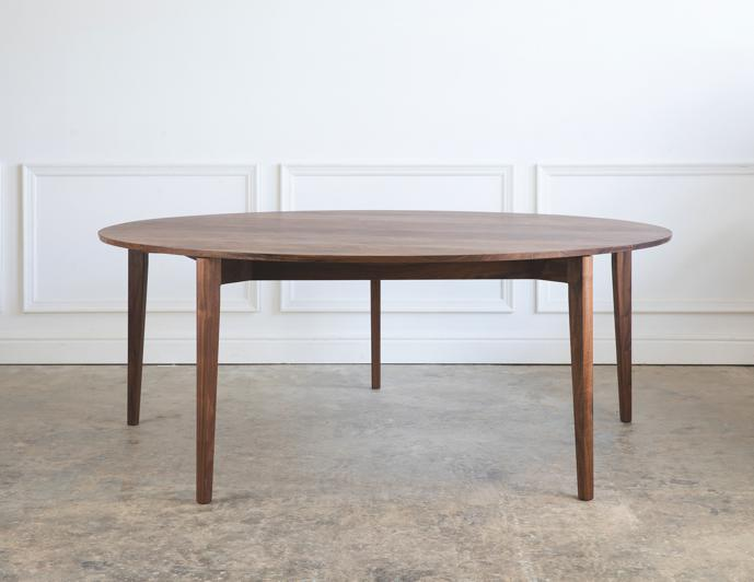Ivor Round Table in Walnut.