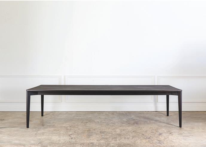 Ivor Classic Table in Black Oak.