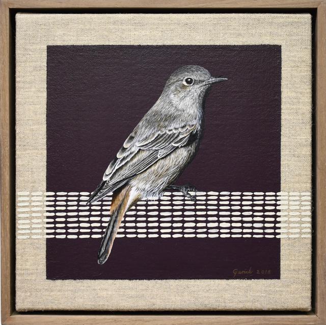 Gerick Terblanche – Spring Hill, 18 x 18 cm (framed 20 x 20cm), Acrylic on Belgian Linen.