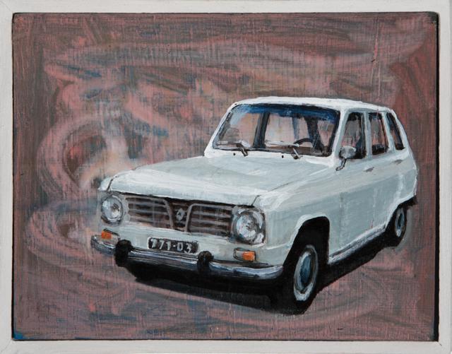 Tom Cullberg – Julia's Car, 11,5 x 15 cm, acrylic on panel, 2018.
