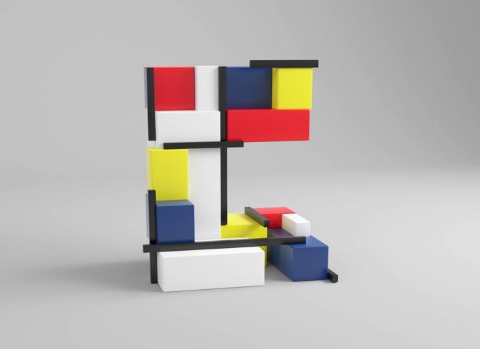 C – Piet Mondrian
