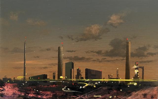 MJ Lourens – Untitled II, 2018, oil on board 13 x 20 cm.