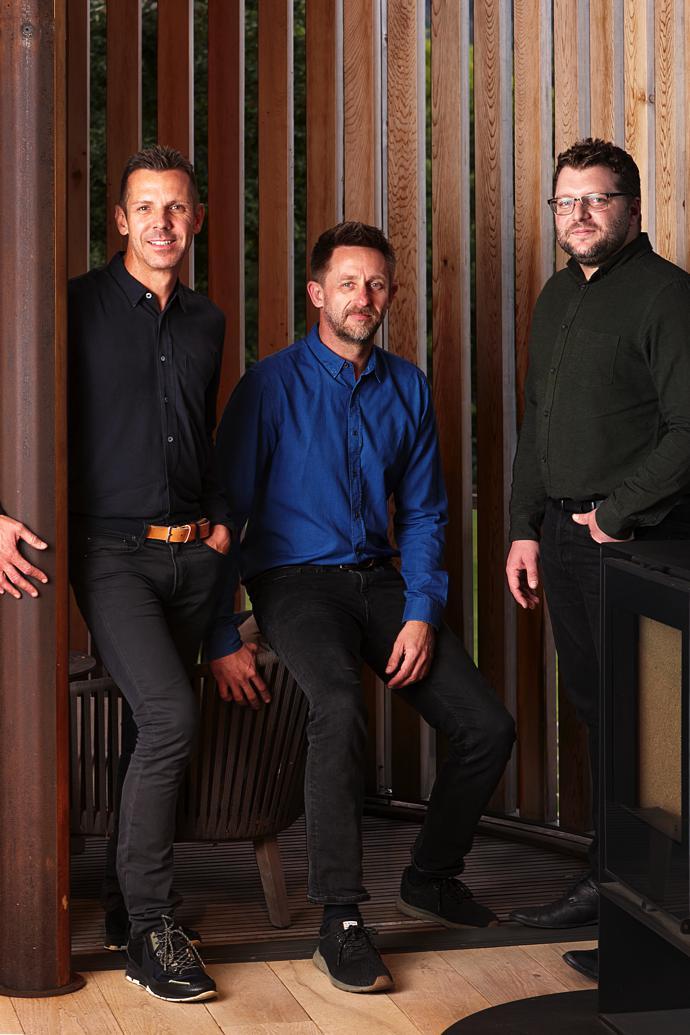 Jan-Heyn Vorster, Pieter Malan and Peter Urry of Malan Vorster Architecture Interior Design.