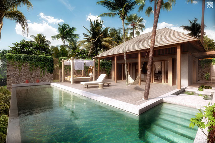 Private villa's private pool.
