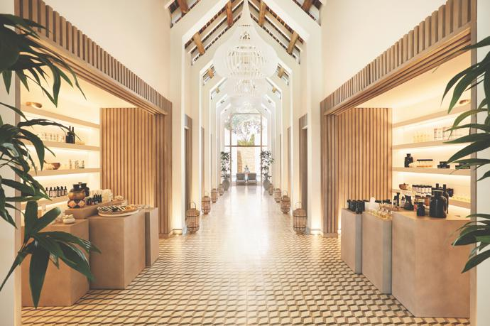 The LUX* Me Spa is another area that heroes natural and organic materials and textures.