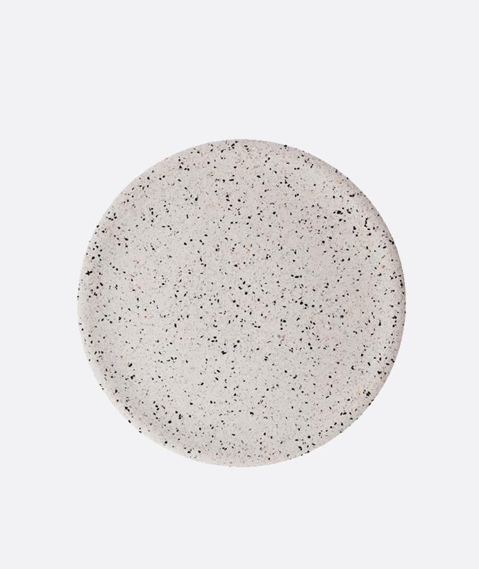 Terrazzo Dimple Tray Large-Snow