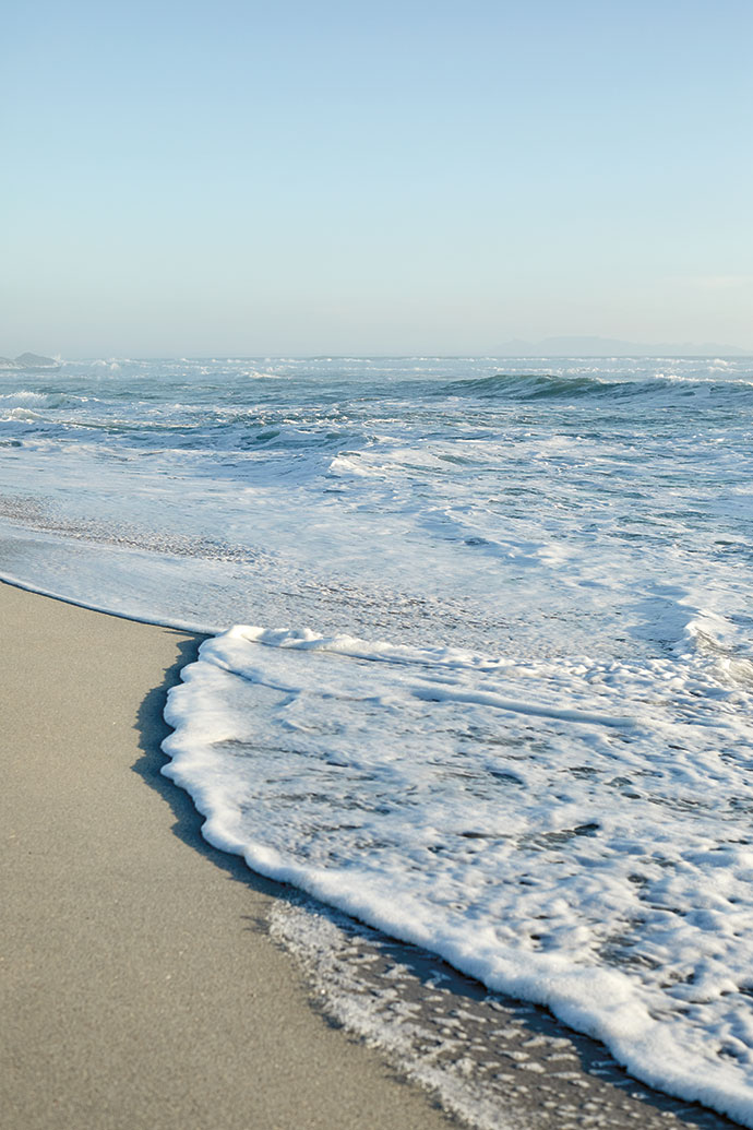 On a clear day one can see Table Mountain from Pearl Bay Beach in Yzerfontein.