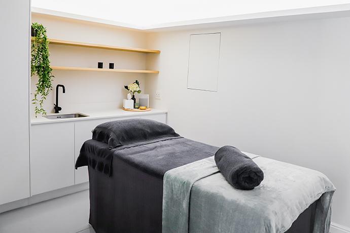Sauve interiors at Meraki Aesthetics.
