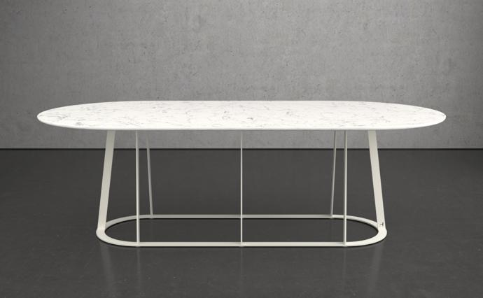Plat - O Flat Oval Dining Table - 10 seater