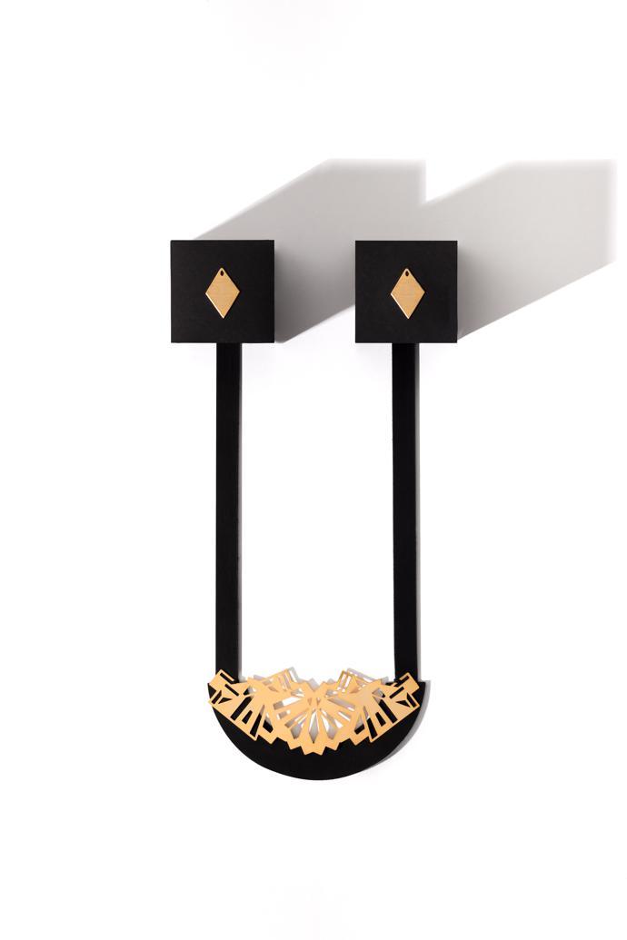 WRD Diamond Earrings and UCT Neckpiece