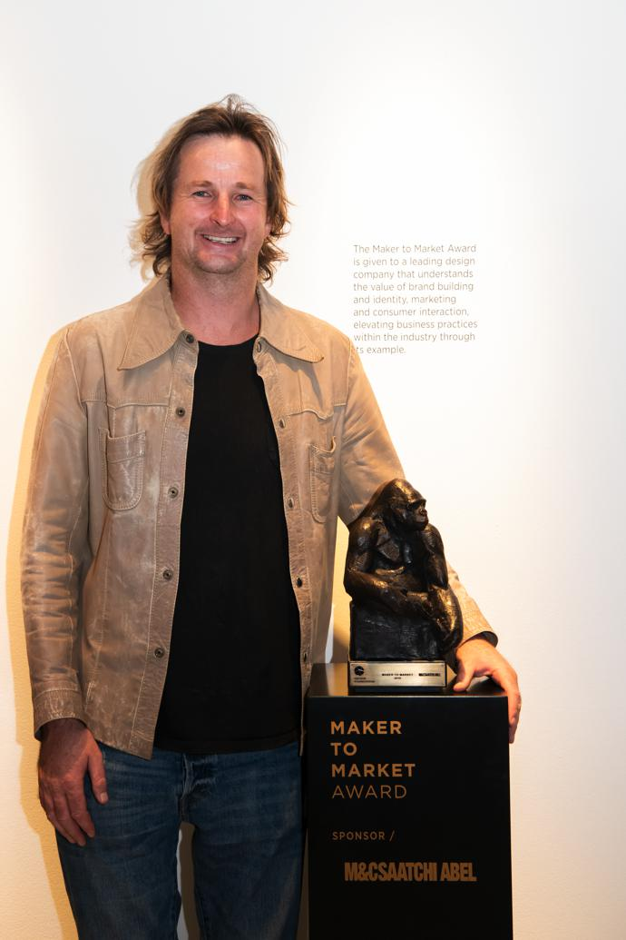 Mike Schlebach, managing director of Sealand Gear, winner of the Maker to Market Award.